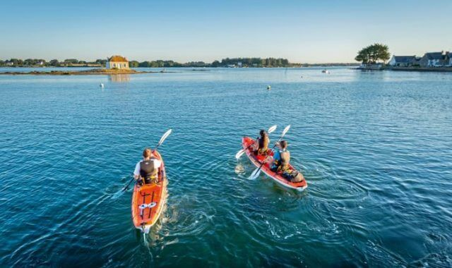 France, Morbihan (56), Belz, kayak sur la ria d'Etel // France, Morbihan, Belz, kayak on Etel ria