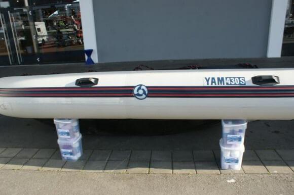 Sjippie Schlauchboot-Reiniger im Einsatzt im Einsatz